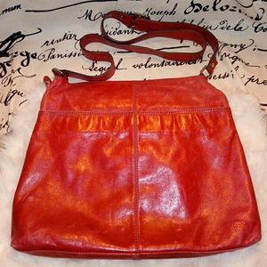 Hobo International Large Red Leather Bag